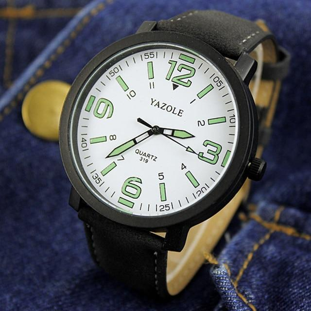 Luminous Male Clock Quartz Watch - Upstart Clothing Company