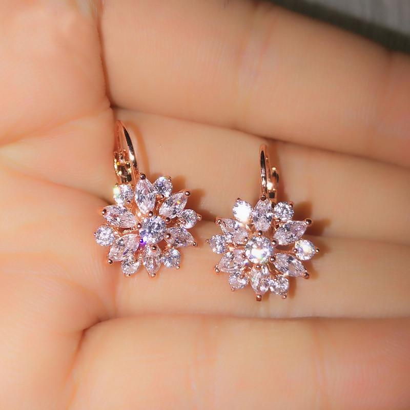Clear Crystal Zirconia Earrings - Upstart Clothing Company
