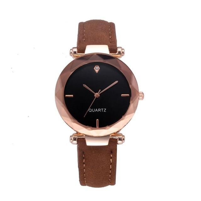 Contracted Leather Crystal WristWatches - Upstart Clothing Company