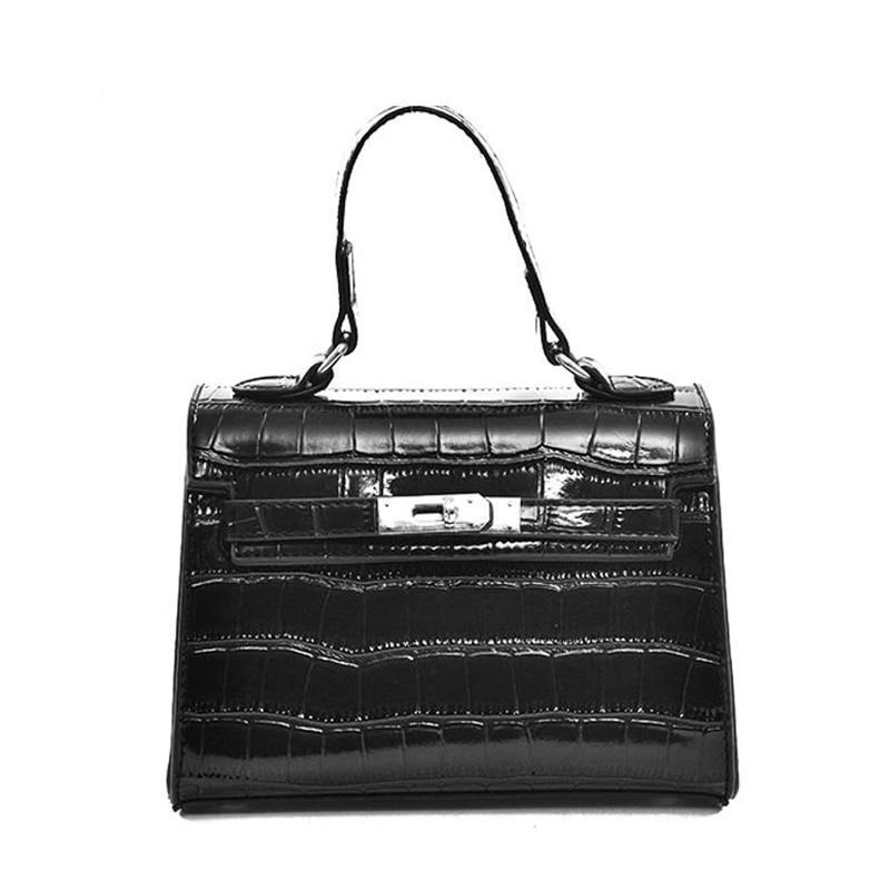 Alligator Sequined Hasp Solid Handbag - Upstart Clothing Company