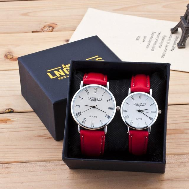 Red Luxury Brand Quartz Couple Watch - Upstart Clothing Company