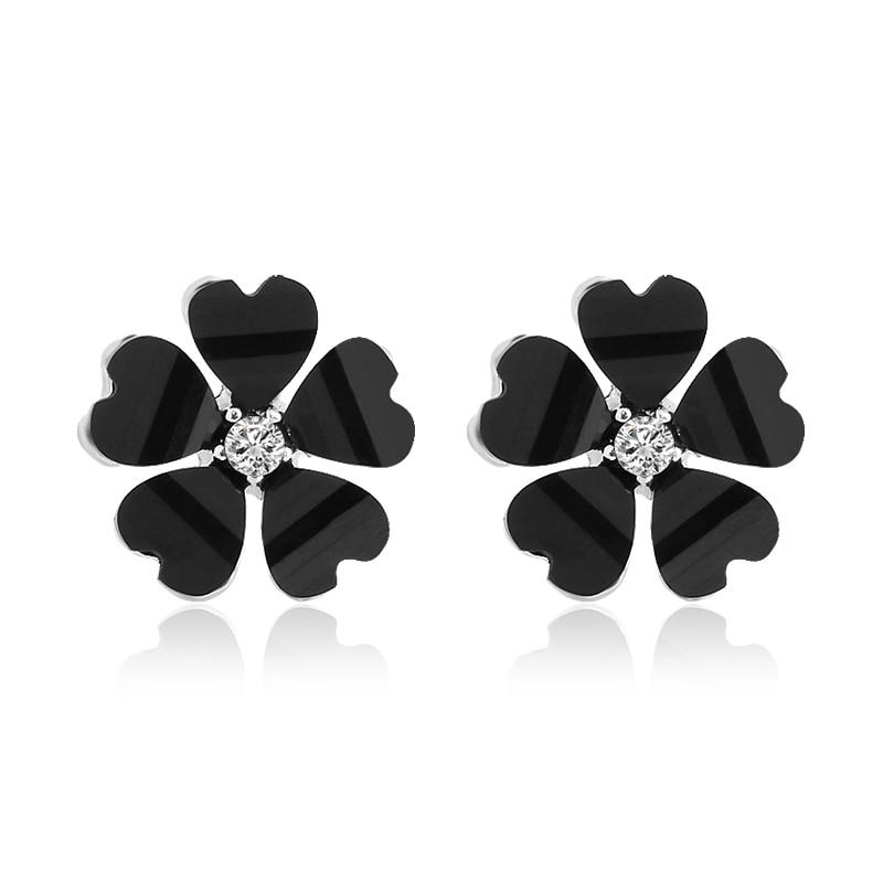 Crystal Flower Stud Earrings - Upstart Clothing Company