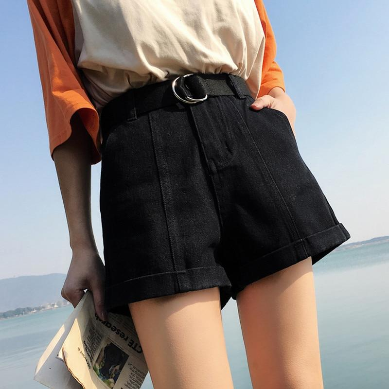 Denim High Waist Shorts - Upstart Clothing Company