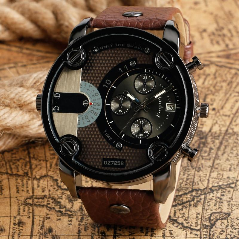 Sports Military Leather Strap Watches - Upstart Clothing Company