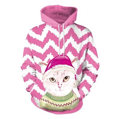 Christmas Cat Hoodie - Upstart Clothing Company
