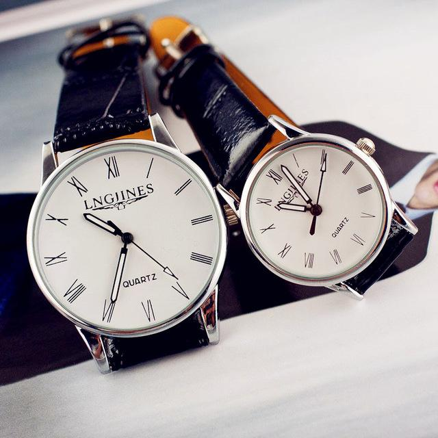 Full Genuine Leather Couple Watch - Upstart Clothing Company