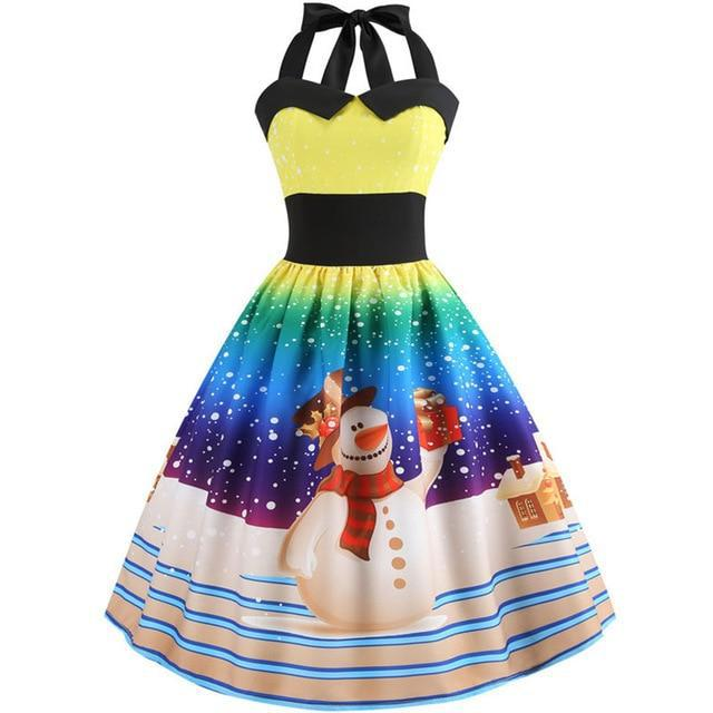 Snowman Christmas Dress - Upstart Clothing Company