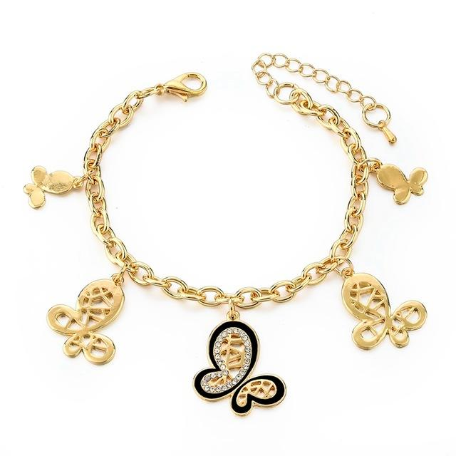 Butterfly Shape Charm Bracelet & Bangle - Upstart Clothing Company