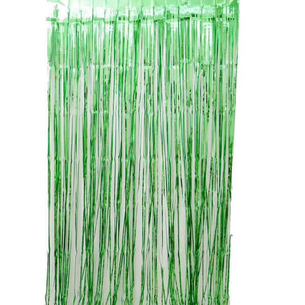 Green Fringe Curtains 1 x 2 m