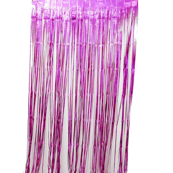 Hot Pink  Fringe Curtains 1 x 2 m