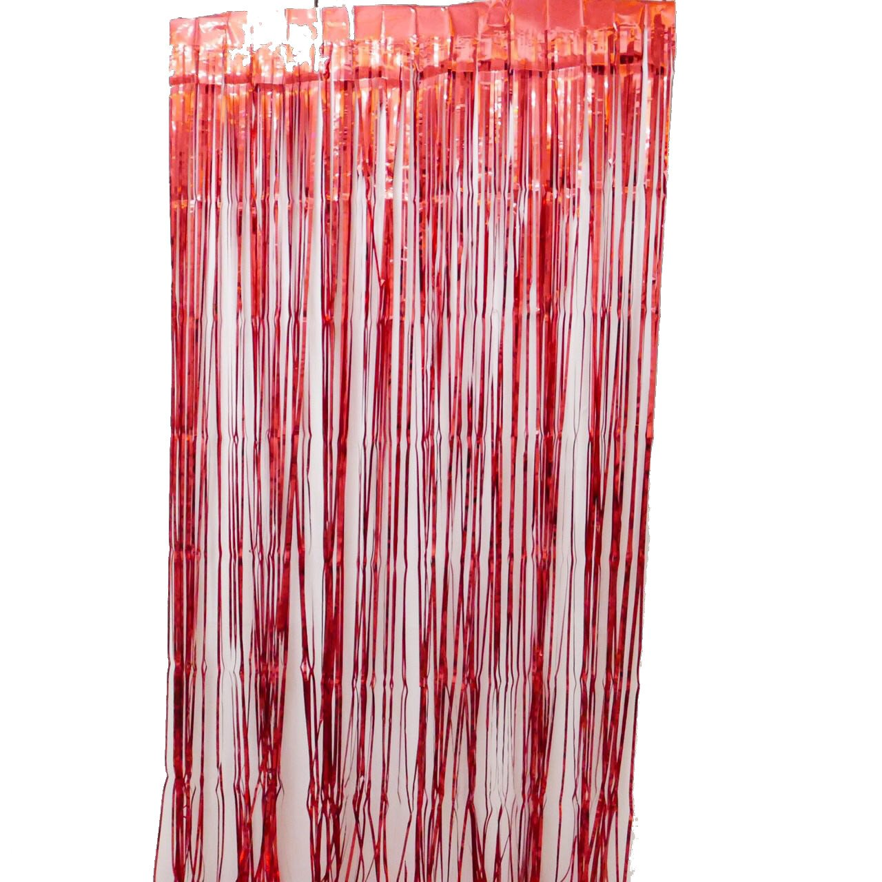 Red Fringe Curtains 1 X 2 M