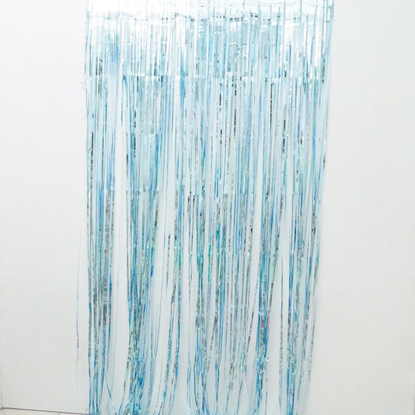 Aqua  Fringe Curtains 1 x 2 m