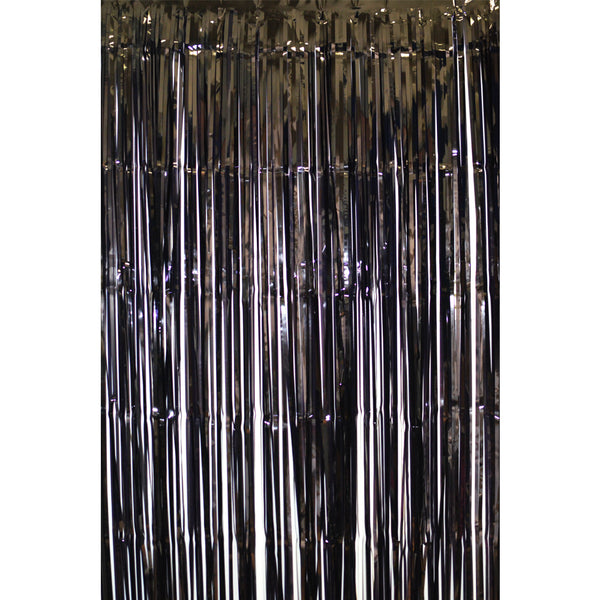 Black  Fringe Curtains 1 x 2 m