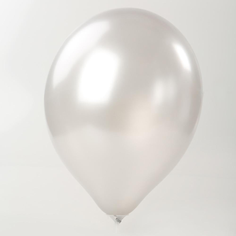 "Pearl Balloon - Silver 12"" (Pack of 10)"