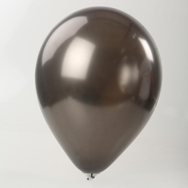 "Pearl Balloon - Black 12"" (Pack of 10)"