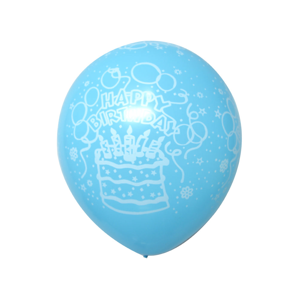 "HBD Balloons Blue 12"" (Pack of 10)"