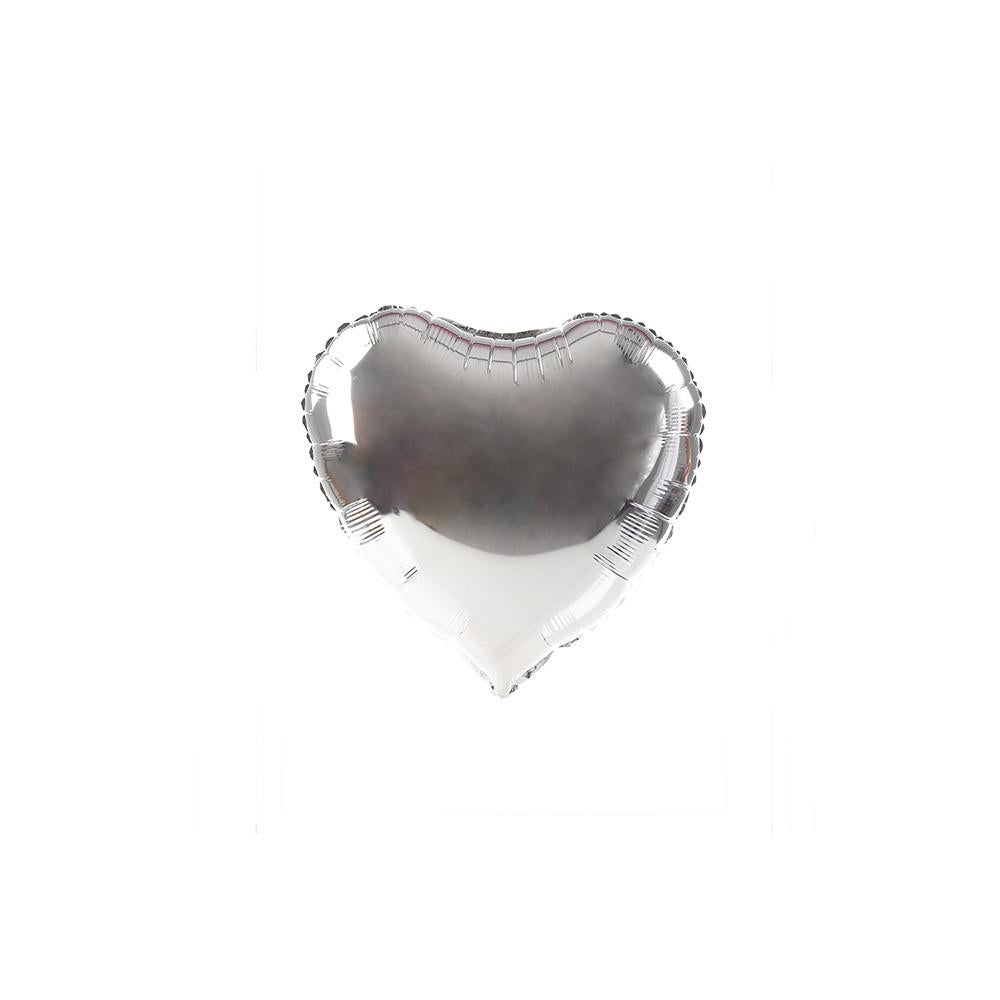 Silver Happy Heart 10""