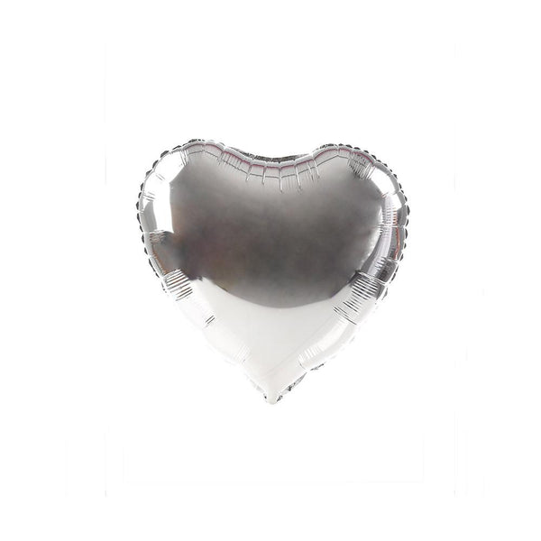 Silver Happy Heart 18""