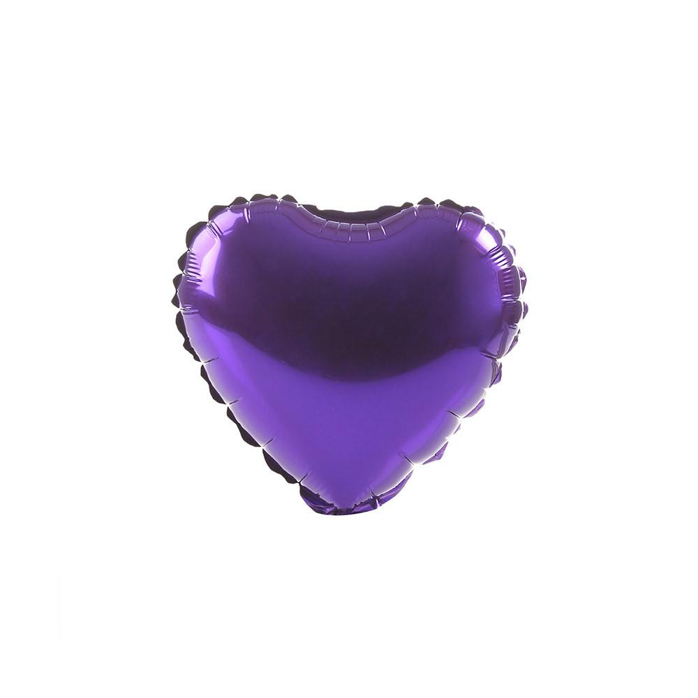 Purple Happy Heart 18""