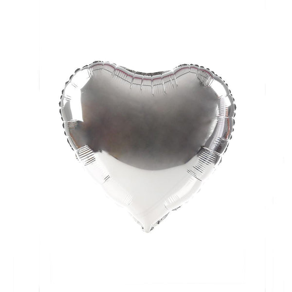 Silver Happy Heart 24""