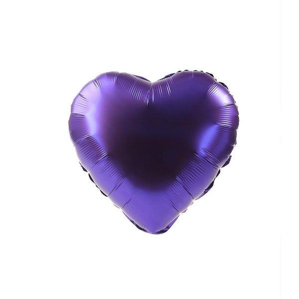 Purple Happy Heart 24""