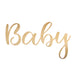 Baby Balloon Sticker in Gold
