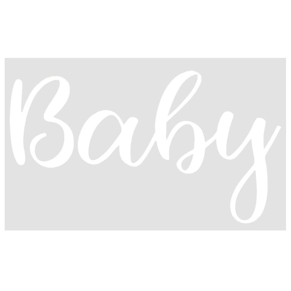 Baby Balloon Sticker in White