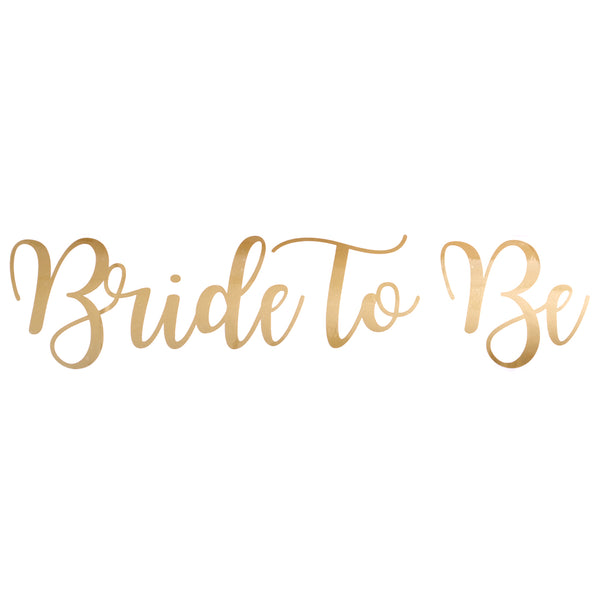 Bride To Be Balloon Sticker in Gold (BIG)