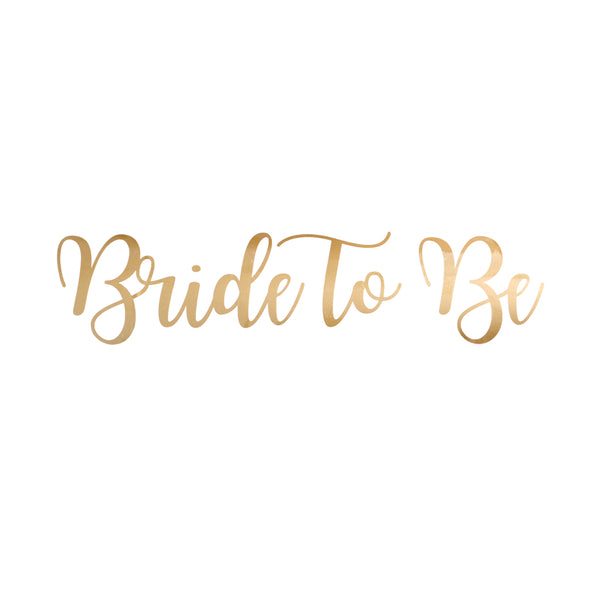 Bride To Be Balloon Sticker in Gold (Small)