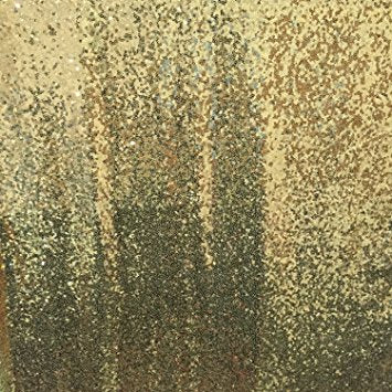 Dipped Gold Sequins Curtains 4 x 6 ft