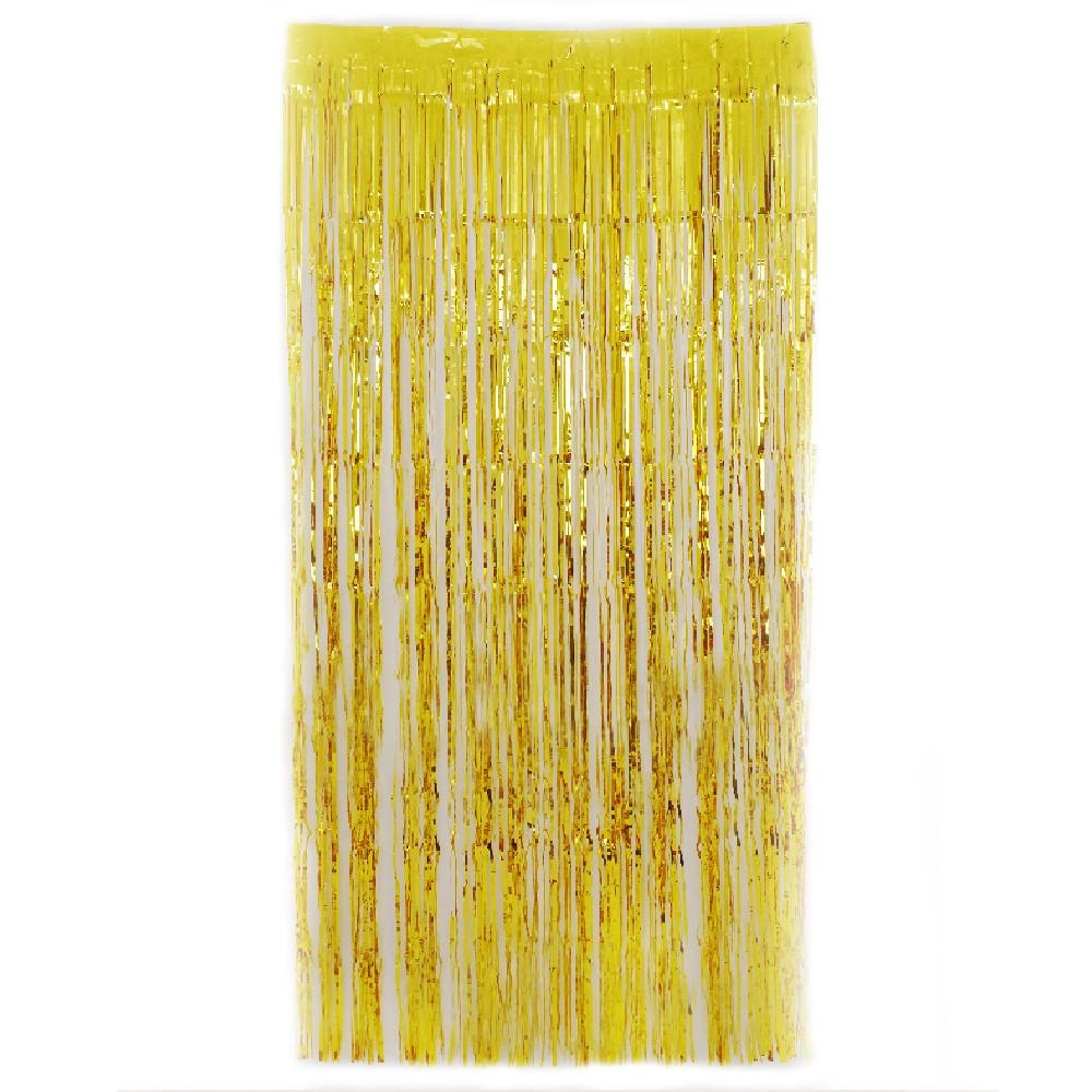 Gold  Fringe Curtains 1 x 2 m