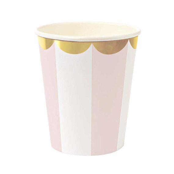 Carousel Pink Cups  (Pack of 12)
