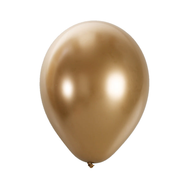 "CHROME DIPPED LATEX GOLD 12"" (Pack of 10)"