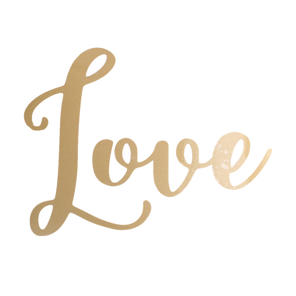 Love Balloon Sticker in Gold