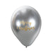 Merry Christmas Balloon Sticker in Gold