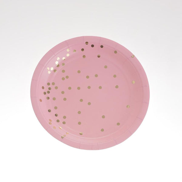 "Gold Dust Pink Plates 7""  (Pack of 12)"