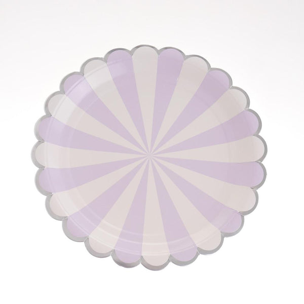 "Carousel Purple Plates 9"" (Pack of 12)"