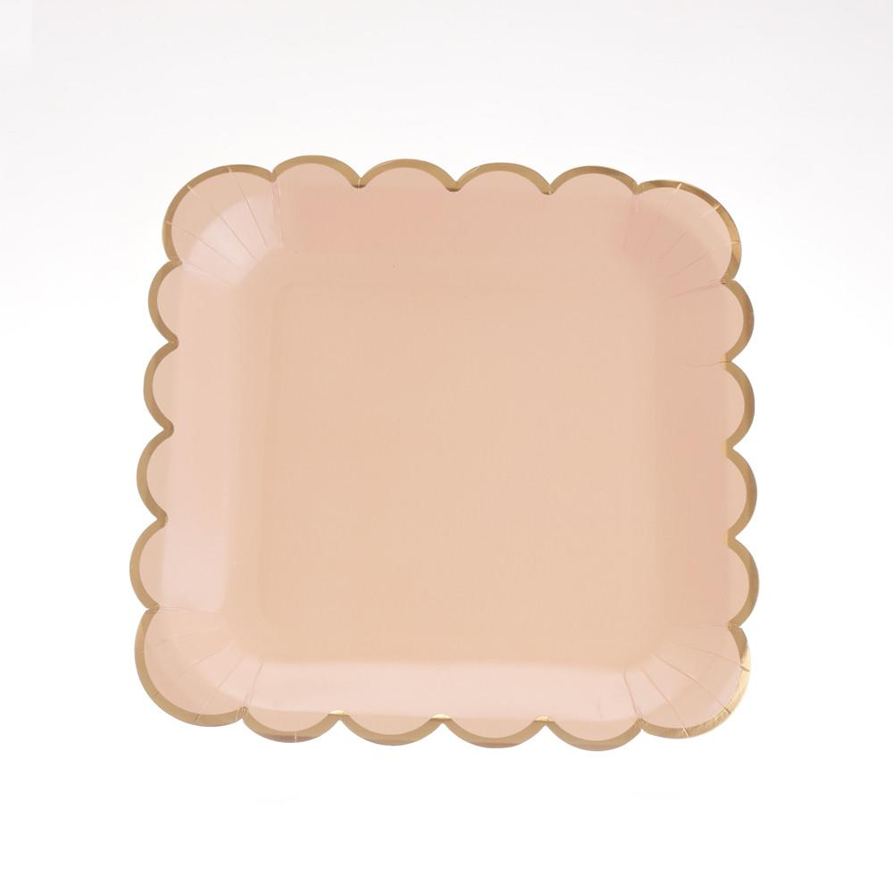 "Blush Scallop Plates 9""  (Pack of 12)"