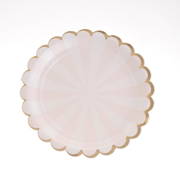"Carousel Pink Plates 9"" (Pack of 12)"