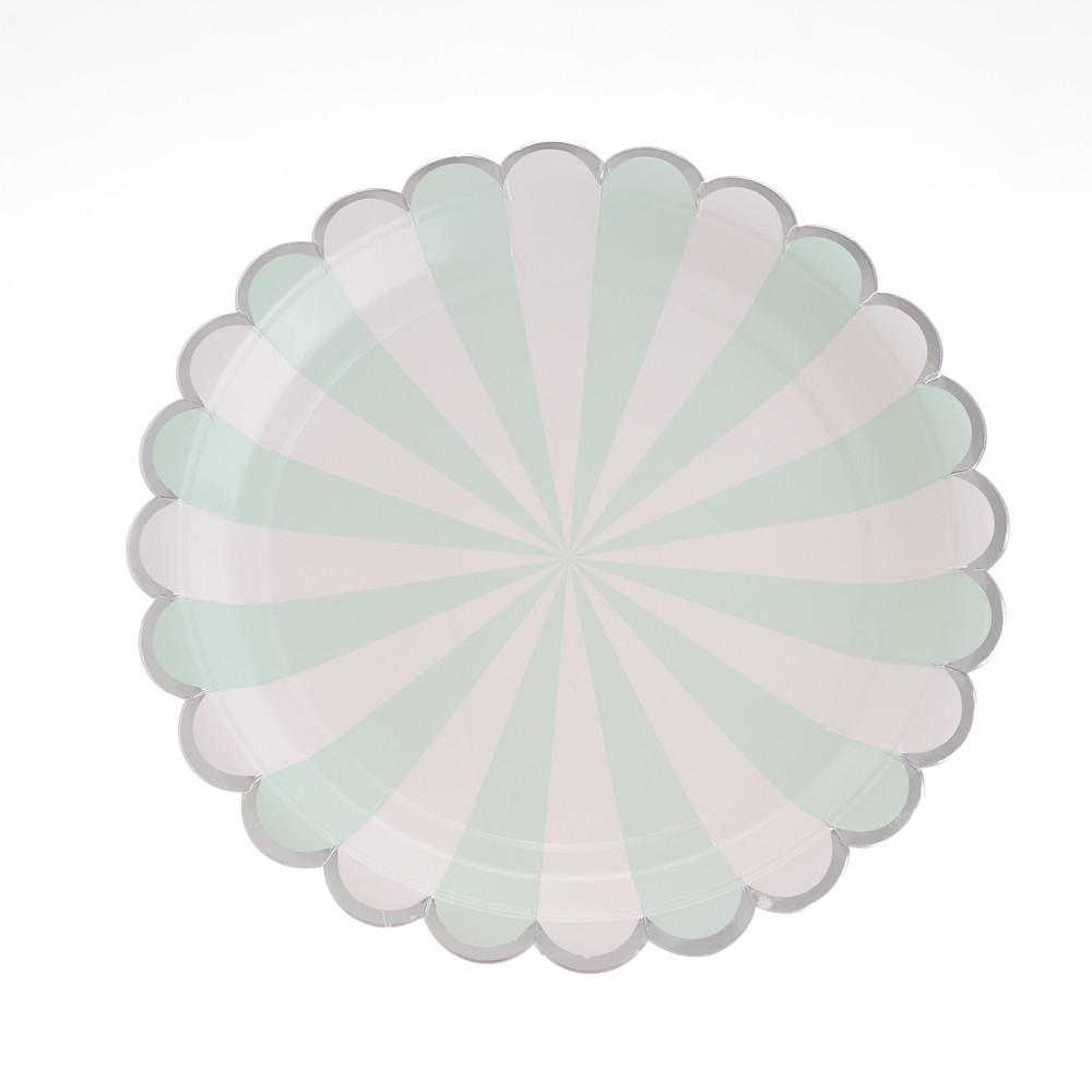 "Carousel Mint Plates 9"" (Pack of 12)"
