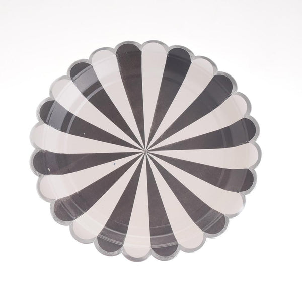 "Carousel Black Plates 9"" (Pack of 12)"
