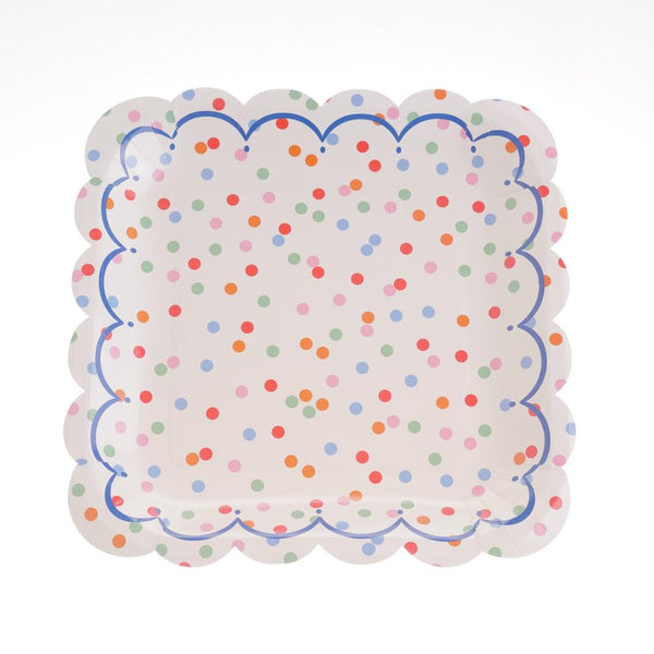 "Confetti Scallop Plates 9""   (Pack of 12)"