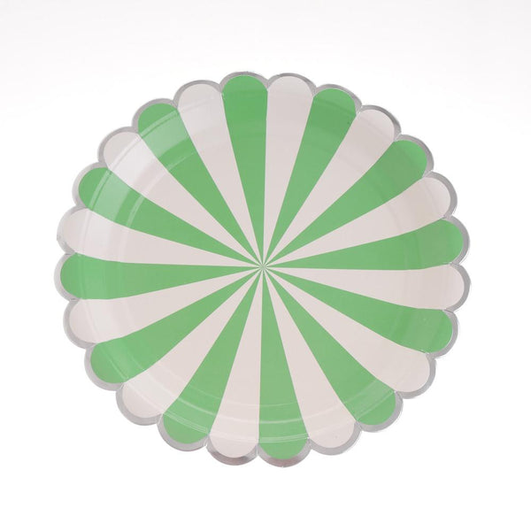 "Carousel Green Plates 9"" (Pack of 12)"