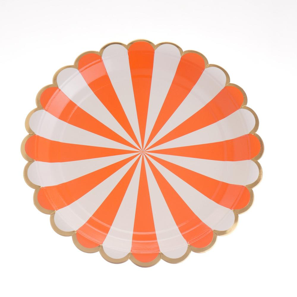 "Carousel Orange Plates 9"" (Pack of 12)"