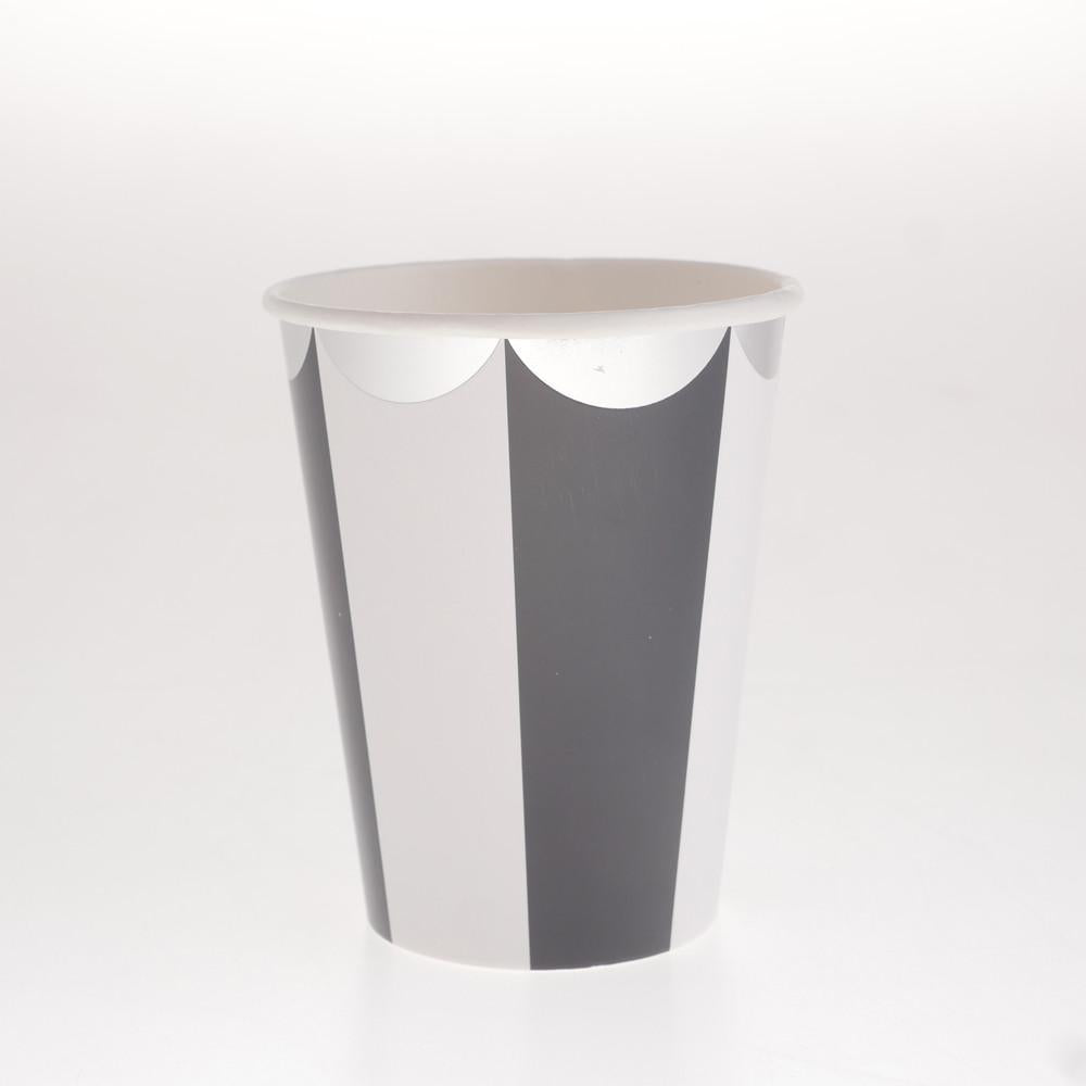 Carousel Black Cups  (Pack of 12)