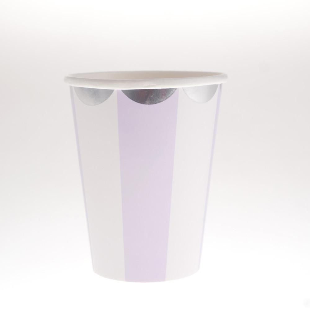 Carousel Purple Cups  (Pack of 12)