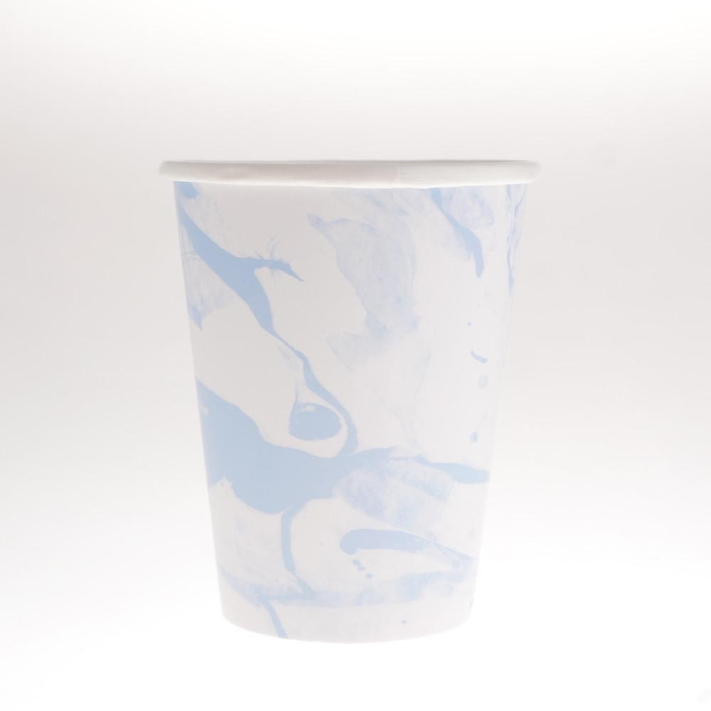 Marbled Blue Cups  (Pack of 12)