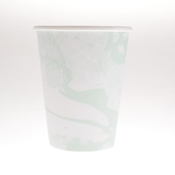 Marbled Green Cups  (Pack of 12)