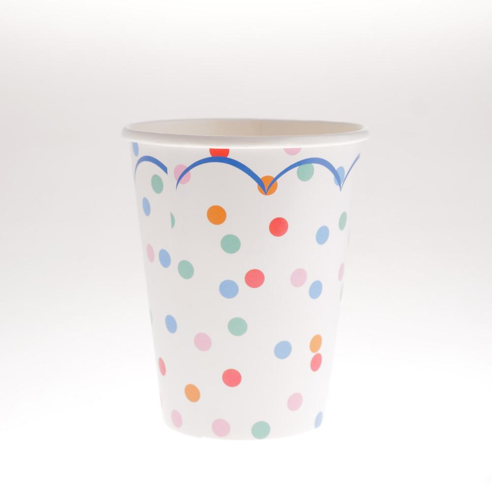 Confetti Scallop Cups  (Pack of 12)
