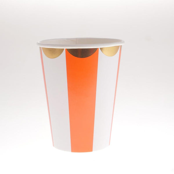 Carousel Orange Cups  (Pack of 12)